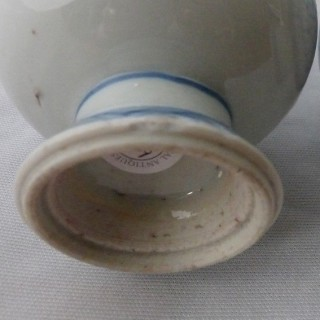 CHINESE PORCELAIN BLUE AND WHITE PAIR OF ROSEWATER SPRINKLERS