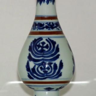 KANGXI BLUE AND WHITE TAPERING VASE