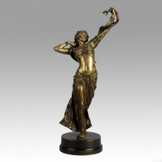 Snake Dancer - Fine Vienna Bronze by Franz Bergman
