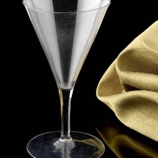 Large Trumpet Drawn Wine Glass