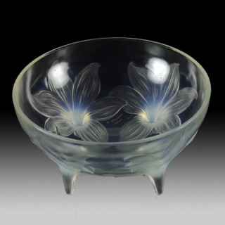 René Lalique Opalescent Glass Lys Bowl