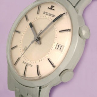 STAINLESS STEEL VINTAGE JAEGER-LECOULTRE AUTOMATIC MEMOVOX WATCH C1960