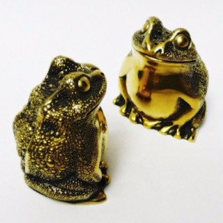 Vintage Silver Frog Salt and Pepper Shakers by Tiffany & Co