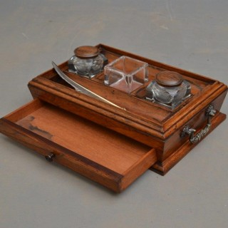 Exceptional Regency Rosewood Ink Stand