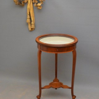 Elegant Edwardian Mahogany Bijouterie Table