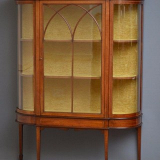 Excellent Edwardian Display Cabinet – Vitrine