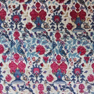 Pair of antique Tehran rugs with silk highlights