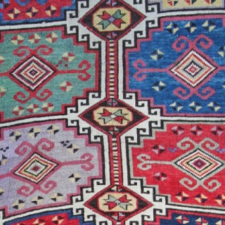 Antique Caucasian Moghan rug