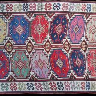 Antique Caucasian Moghan rug