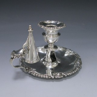 ANTIQUE SILVER CHAMBERSTICK made in 1823 by Matthew Boulton