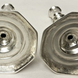 Antique Irish Silver Candlesticks by Joseph Walker