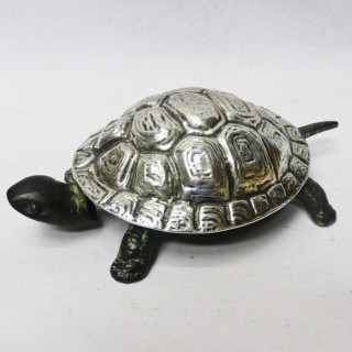 Antique Silver Tortoise Bell by Grey & Co
