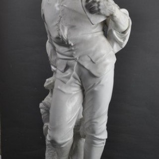 Marble statue of Robert Burns signed Rhind