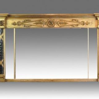 Large Early 19th century Gilt Overmantle
