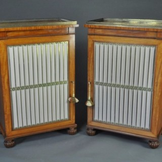 Pair of Satinwood Side Cabinets