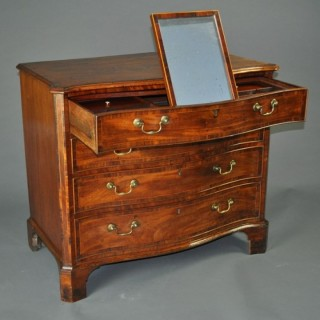 Hepplewhite period Mahogany serpentine Chest of Drawers