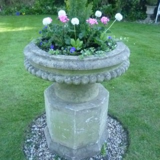 Large Tazza shape Stone Garden Urn
