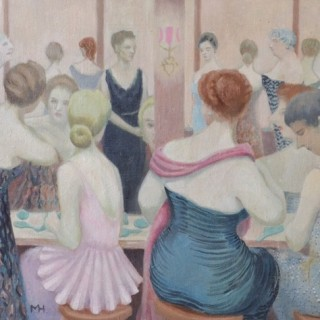 MIRIAM HUMPHRIS (1906-1998) POWDER ROOM AT THE DORCHESTER