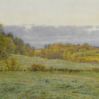GEORGE PRICE BOYCE RWS (1826-1897) A WOODED VALLEY IN SURREY