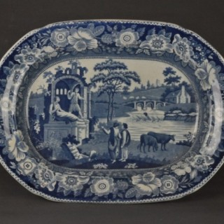 Early 19th Century Staffordshire 19 inch Meat Platter