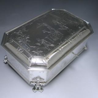 A SILVER CASKET