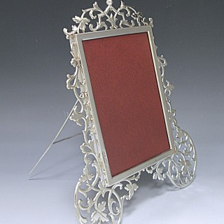 ANTIQUE STERLING SILVER PHOTO FRAME