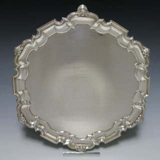 ANTIQUE STERLING SILVER SALVER