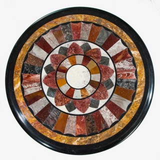 A stunning marble top specimen centre table.