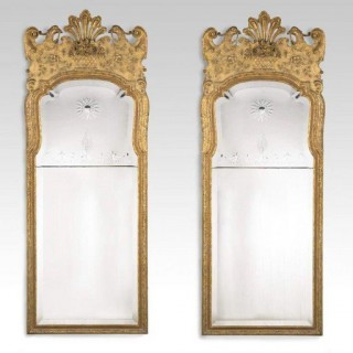 A pair of George l style victorian giltwood mirrors