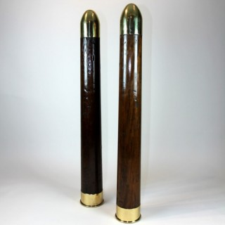 Pair of Royal Navy training dummy shells