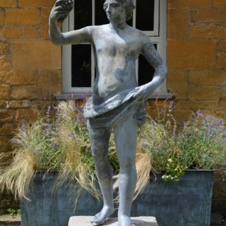 An 18th Century Lead figure of Bacchus