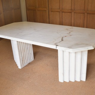 A marble table in the Art Deco style