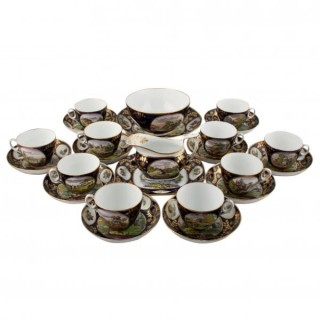 New Hall Porcelain Tea Ware