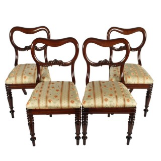 Four Mahogany 'Kidney' Back Chairs