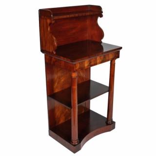 Regency Empire Style Mahogany Console Table