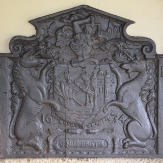 A fireback bearing the arms of the City of Bristol