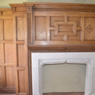 Queen Anne House, Oxshott, Oak Panelled Study