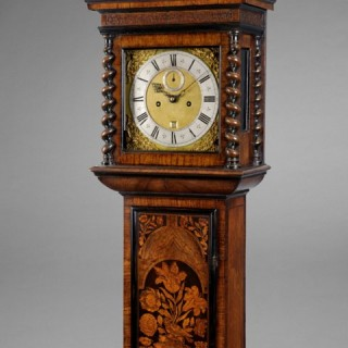 A fine and small seventeenth century longcase clock, by JACOBUS MARKWICK, Londini c1690