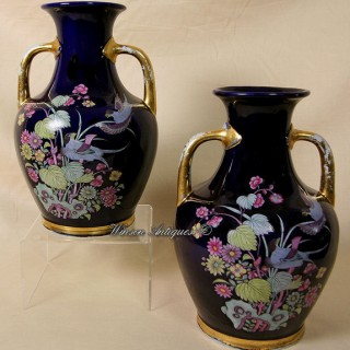A Rare pair of Mason's Ironstone China vases