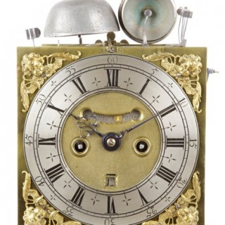 A particularly fine seventeenth century quarter repeating spring table clock, by JOHN SHELTON, London c1695