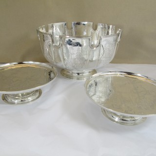 Silver Bowl and Tazze