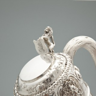 Sterling silver caret jug made in 1860 in London by Robert Hennell