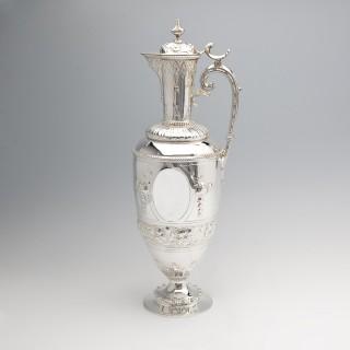 Victorian Silver Wine Ewer