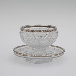 Silver And Glass Dish