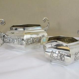 Georgian Silver Sugar Bowl and Cream Jug