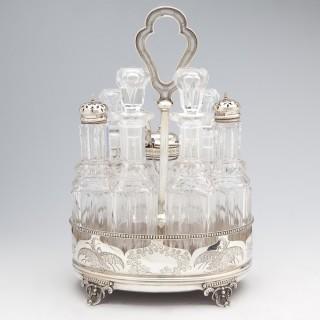 Beautiful Victorian silver Cruet manufactured in London in 1872.