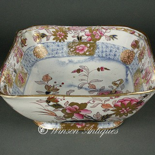 Mason's Ironstone China bowl Golden Chrysathemum pattern