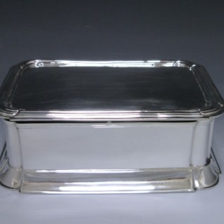 ANTIQUE SILVER JEWEL BOX