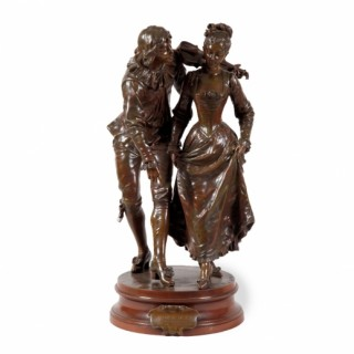 A patinated bronze figural group by Adrien-Étienne Gaude