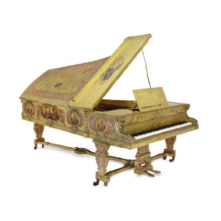 A fine giltwood and Vernis Martin painted Full Concert Grand Piano